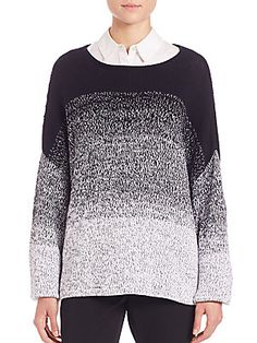 Vince Textured Pullover - Coastal  - Size