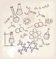Vector Illustration Of Hand Draw Chemistry On Background Royalty Free Cliparts, Vectors, And Stock Illustration. Image 15798514.