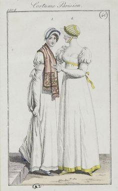 Journal des dames et des modes / Costume Parisien: 5 Septembre + 15 Septembre, 1808