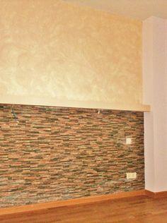 Pintura decorativa y papel pintado sal n pintura - Piedra decorativa para paredes ...