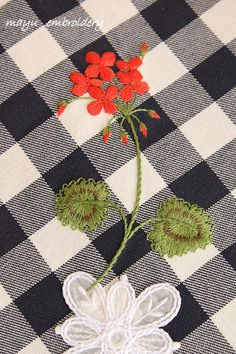 Freestyle Embroidery : Geranium - Mayu Embroidery