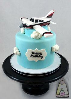 Airplane Fondant Birthday Cake