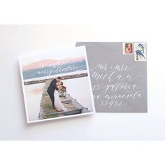 Holiday Card design by Cast Calligraphy - Bozeman Montana