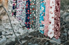 Shop www.daziusa.com for a variety of beautiful floral cotton skinny ties.