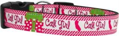 Mirage Pet Products Cali Girl Nylon Dog Collars Medium -- Can't believe it's available, see it now : Collars for dogs