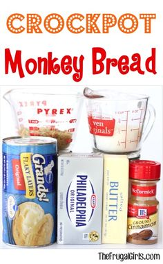 Crockpot Monkey Bread Recipe in Breakfast Recipes, Christmas, Dessert Recipes, Easter Recipes, Recipes Crock Pot Recipes, Crock Pot Food, Crock Pot Desserts, Crockpot Dishes, Crock Pot Slow Cooker, Slow Cooker Recipes, Bread Recipes, Delicious Desserts, Cooking Recipes