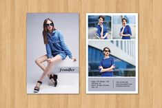 Modeling Comp Card Template-V290 by@Graphicsauthor