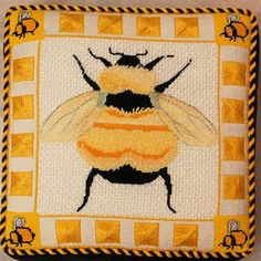 Ridgewood Needlepoint Blog: Fabulous Bee Pillow This is georgeous!  her boards are plentiful and good.
