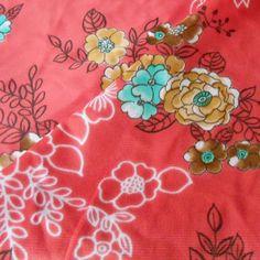 Vintage Pink Floral knit Jersey FABRIC Japanese Sakura Cherry Blossom dress art #Vintage  #BigBoyTumbleweed
