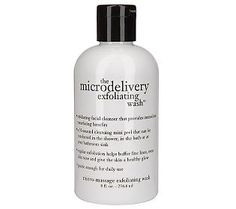 Philosophy microdelivery exfoliating wash-use a couple of times a week to remove dead skin and brighten complexion.
