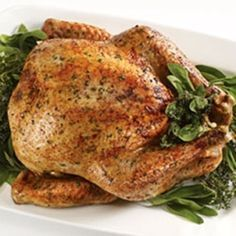 Herb Rubbed Roasted Turkey #recipe #oliveoil #EVOOholiday