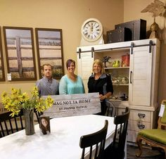 Catherine Cushing, at right, co-owner of Geneva Home Works in West Chicago, says her company carries new lines of furniture that cater to today's tastes, which include a comfortable, eclectic style. Cushing is pictured with Sean Smudde, left, sales associate, and Kate Radman, store manager.