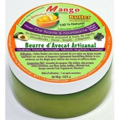 Cire fixante et nourrissante - Beurre d'avocat artisanal & Huile de Nigelle, Mango Butter 100 gr