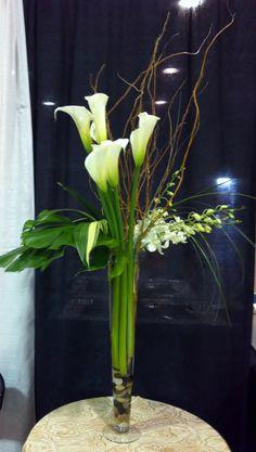 orchids by hazel simmons mcdonald Calla Lillies Centerpieces, Calla Lilies, Flower Centerpieces, Wedding Centerpieces, Wedding Decorations, Wedding Ideas, Church Wedding Flowers, Flower Arrangements Simple, Silk Arrangements