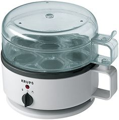 KRUPS F23070 Egg Cooker with Water Level Indicator 7Eggs capacity White *** Click image for more details.-It is an affiliate link to Amazon.