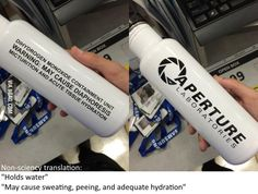 My awesome water bottle from Aperture Science arrived today... - Funny