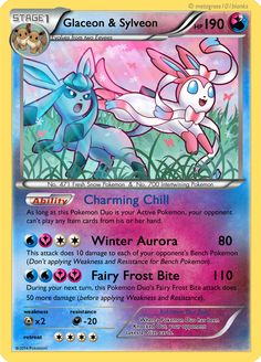 Glaceon and Sylveon Duo Card by Mr-Savath-Bunny.deviantart.com on @DeviantArt