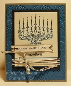 {scrap and stamp with mary}: Happy Hannukah from Stampin' Up!