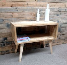 retro pallet side table