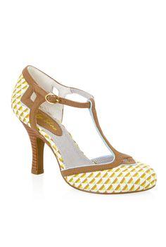 Ruby Shoo Hatty Shoes Lemon