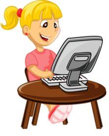 Картинки детей за компьютером нарисованные
