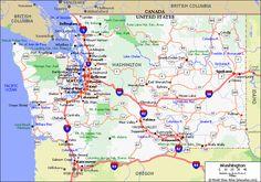 Washington map.