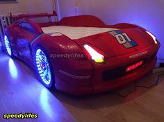 M7 Extreme Arabalı Yatak - Kırmızı Araba Yatak - Işıklı Araba Yatak