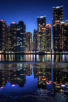 Marine City Reflection - Busan, South Korea