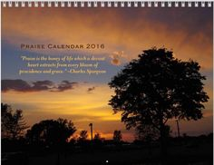 Win a full-color 2016 Praise Calendar | Ends 12/24/15 at midnight so do it now!!!