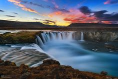 Waterfall of the Gods II - The beautiful Goðafoss Waterfall in Iceland during Sunset. Definitely one of the days I've enjoyed at most since I'm doing photography :)
