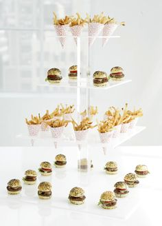 A tower of mini fast-food goodness