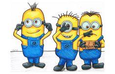 Minions - Hear no evil, See No Evil, Speak no WAAAAH 11x17. FREE