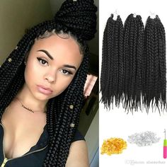 r sultat de recherche d 39 images pour box braids ondul coiffure style. Black Bedroom Furniture Sets. Home Design Ideas