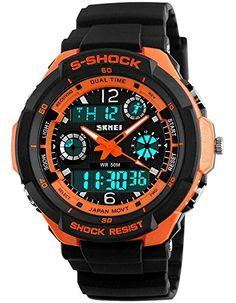 0ece5e8ee57 2016 Men Quartz Digital Watch Men Sports Watches Relogio Masculino SKMEI S  Shock Relojes LED Military Waterproof Wristwatches