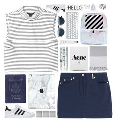 """C H I L L # 2"" by sleepy-seas ❤ liked on Polyvore featuring Monki, adidas, Nine Space, Kenzo, Off-White, Passport, Christian Dior, Holga, Rodin and Rosanna"