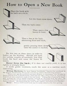 How to open a new book… book lovers tip< I love this! I use this so I don't break my books! It works :3
