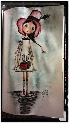 Doll, watercolor, Grazia De Serio