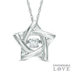 Unstoppable Love™ 1/8 CT. Diamond Star Pendant in 10K White Gold