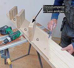 Så enkelt lager du din egen trapp - viivilla.no House, Stairs, Home, Homes, Houses