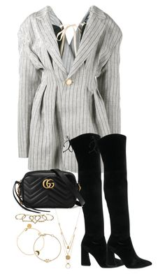 """""""Untitled #5657"""" by theeuropeancloset on Polyvore featuring Jacquemus, Stuart Weitzman, Gucci, Maison Margiela, Zimmermann, SOPHIE by SOPHIE and Bing Bang"""