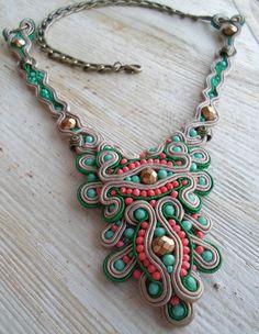 Spring Fling. Handmade soutache necklace. Vegan by SoutacheShop, $79.99