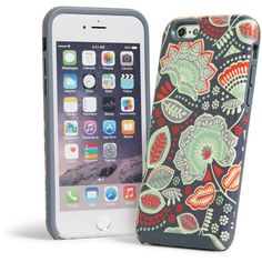 Vera Bradley Hybrid Case for iPhone 6/6s in Nomadic Floral ($38) ❤ liked on Polyvore featuring accessories, tech accessories, nomadic floral and vera bradley