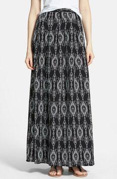 Painted Threads Pleat Maxi Skirt (Juniors) poly black/grey szXS 42L 38.00