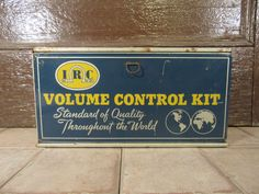 Vintage metal IRC Volume Control Kit- advertising metal box- wall mountable, hinged lid, interior drawers and compartments- nice condition by HeathersCollectibles on Etsy