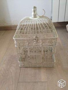 oiseau blanche blanche dcoration cage oiseau essonne leboncoin leboncoin fr dcoration essonne oiseaux mariage cages grillages fil de - Gifi Mariage