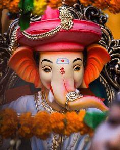 Ganesh photo with jewellery seated on throne Ganesh Pic, Shri Ganesh Images, Ganesh Lord, Ganesh Idol, Ganesha Pictures, Ganesh Statue, Jai Ganesh, Ganesha Art, Ganpati Bappa Photo