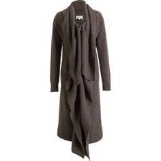 Maison Martin Margiela Long Tweed Drape Cardigan ($1,395) ❤ liked on Polyvore