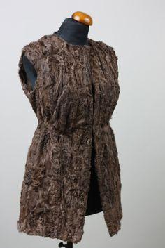 11eac6f6bc87b BeigeSwakara Lamb Fur Vest Mid Hip Fur Jacket