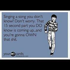 Don't you just love karaoke?