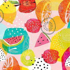 ideas fruit pattern design inspiration colour for 2019 Food Patterns, Textile Patterns, Print Patterns, Textiles, Fruit Illustration, Pattern Illustration, Surface Pattern Design, Pattern Art, Pinterest Instagram